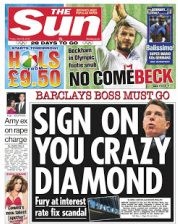Sun Sign on you crazy diamond
