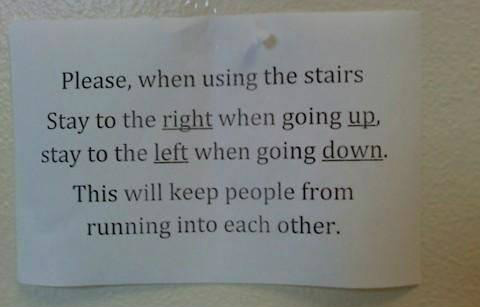 Please when using the stairs