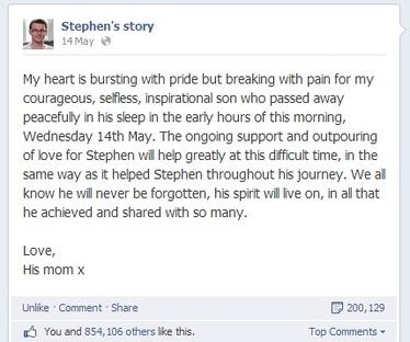 stephen sutton death notice