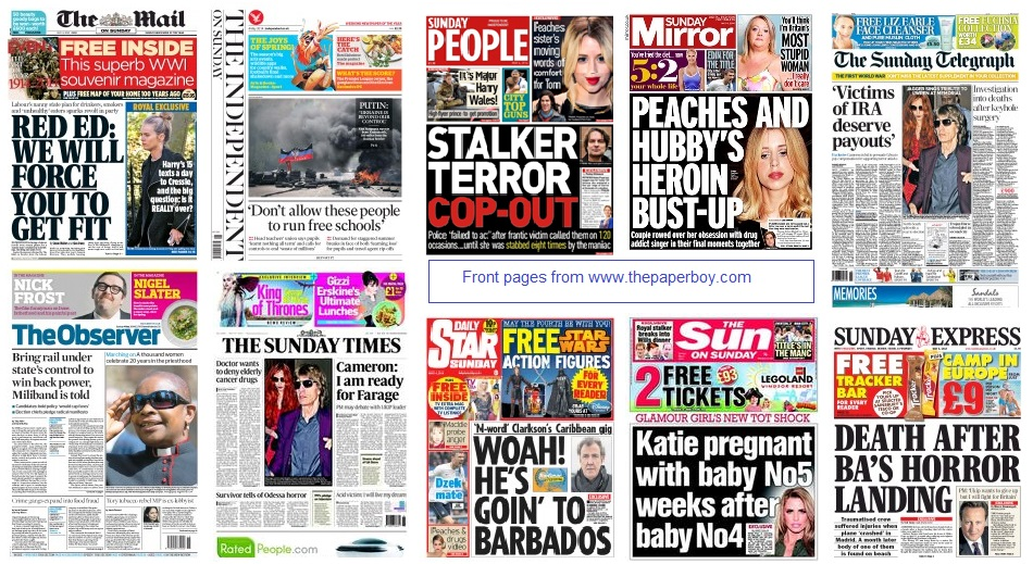 front pages  04-05-14
