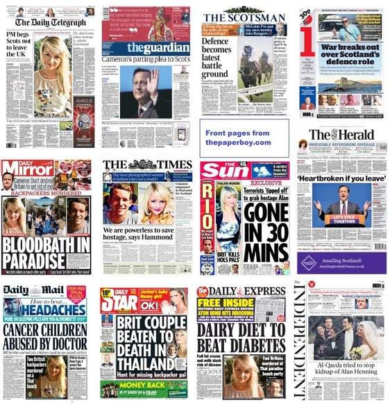 Front pages 16-09-14