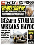Express Mandela and storm