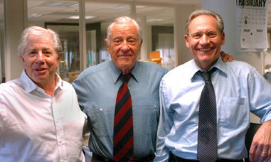 Bradlee with Bernstein and Woodward