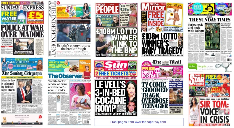 front pages 23-03-2013