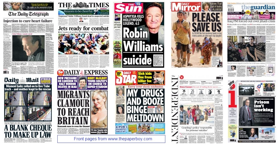 front pages 12-08-2014