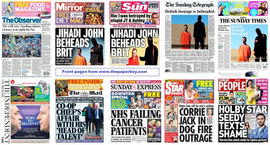 front pages 14-09-14