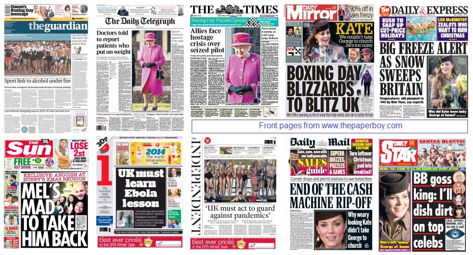 Front pages 26-12-14