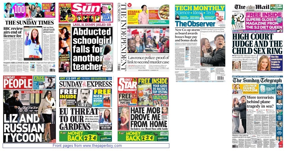 Front pages 09-03-2014