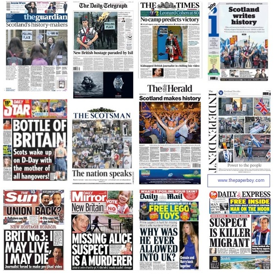 front pages 19-09-14