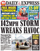 Express Storm wreaks havoc