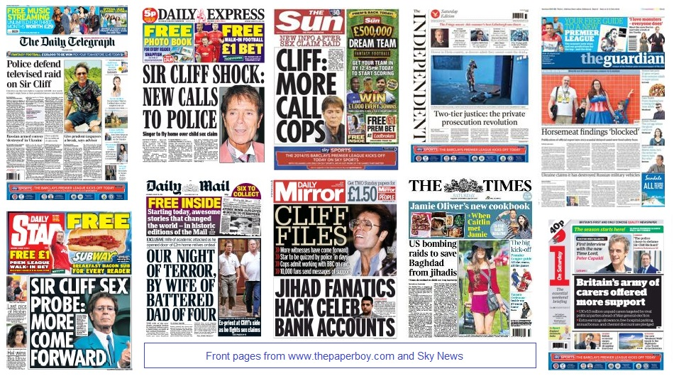 front pages 16-08-14