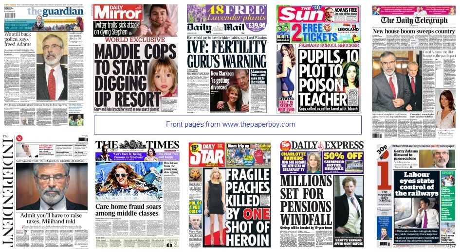 front pages 05-05-14