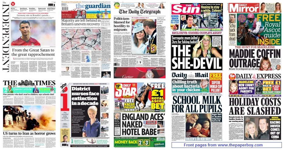 front pages 18-06-14
