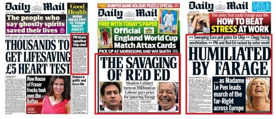 Mail front pages