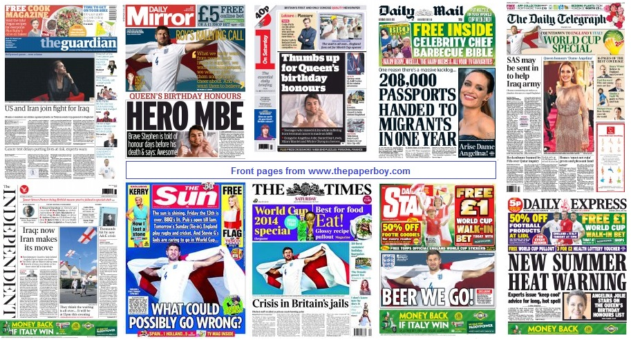 front pages 14-06-14