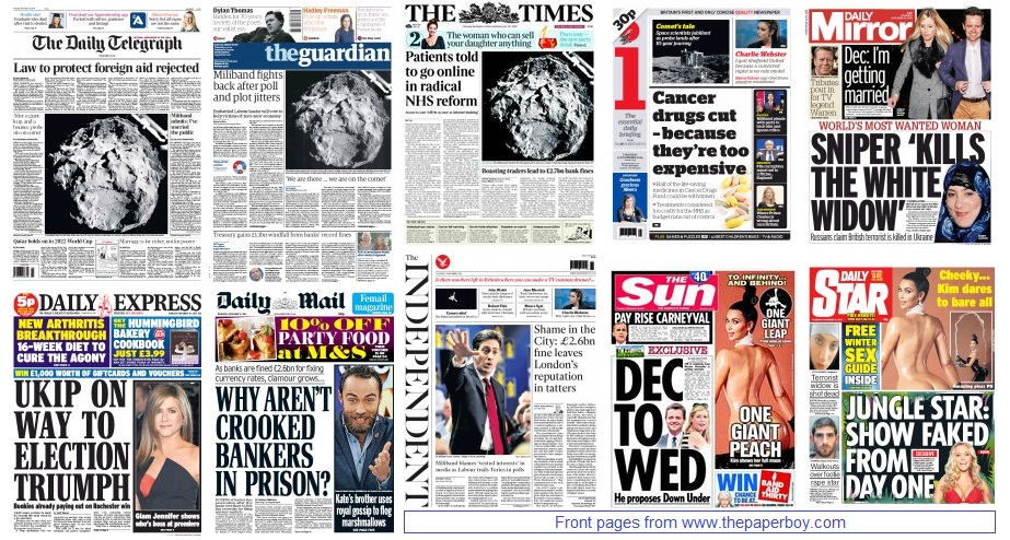 front pages 13-11-14