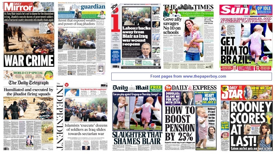 front pages 16-06-14
