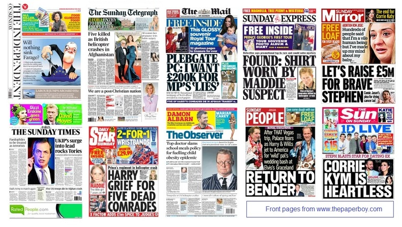 front pages 27-04-2014