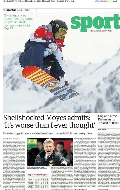 Guardian sports cover 10-02-14