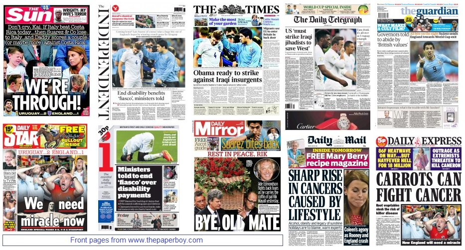front pages 20-06-14