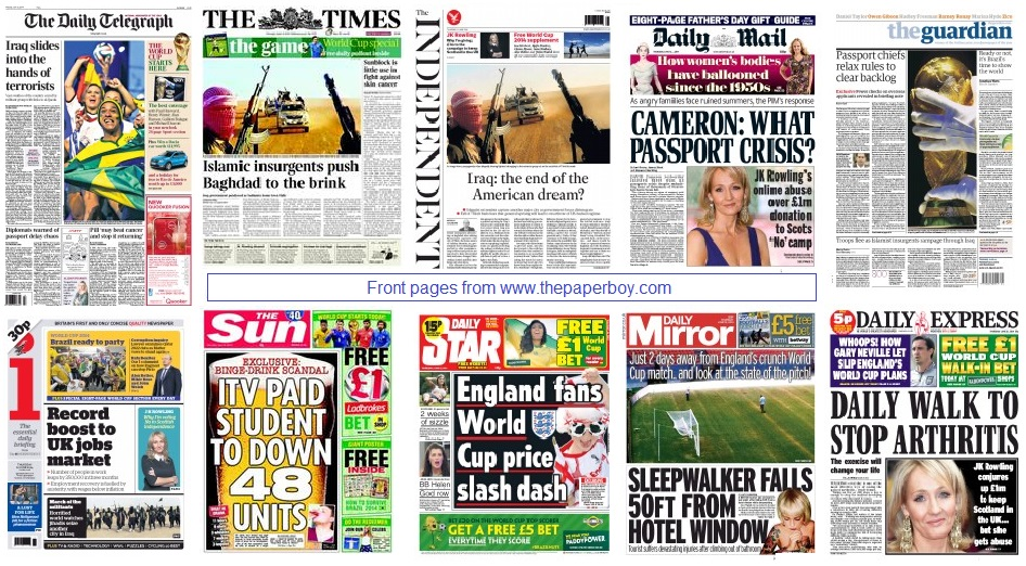 front pages 12-06-2014