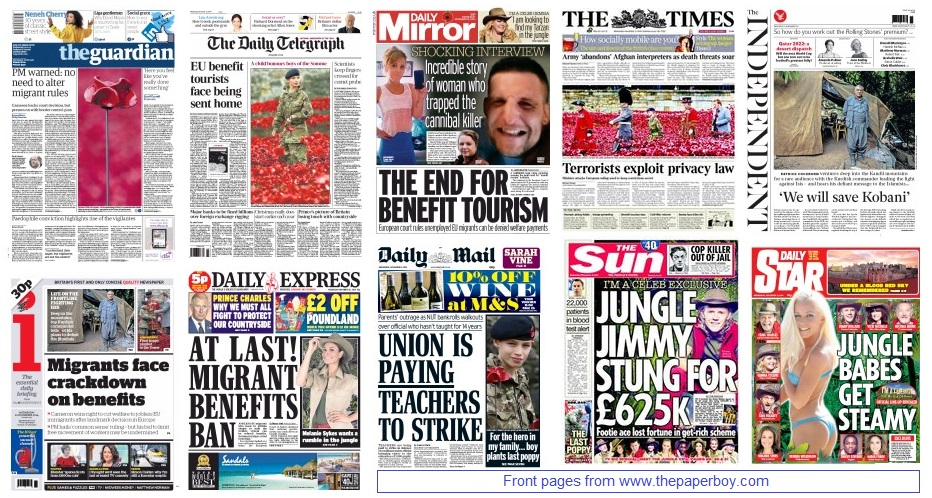 front pages 12-11-14