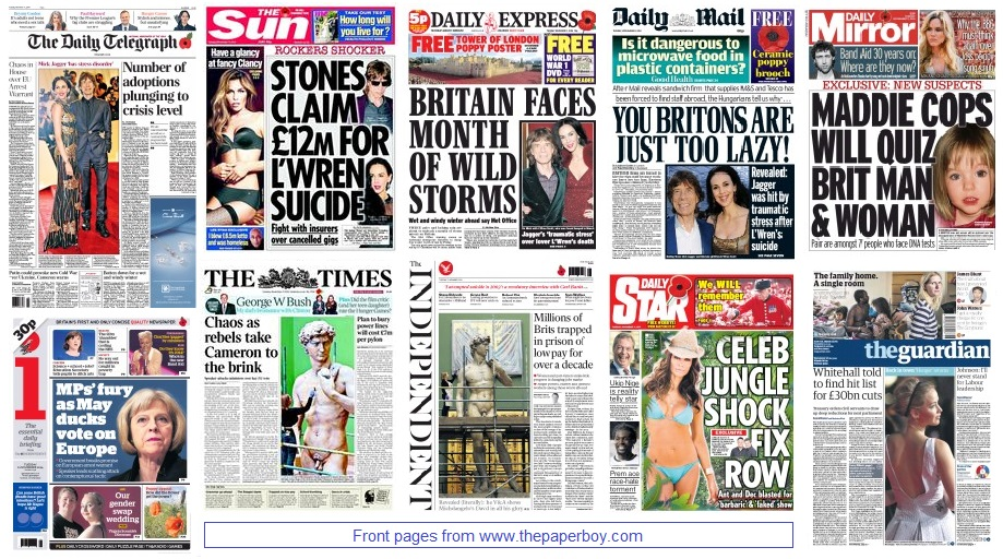front pages 11-11-14