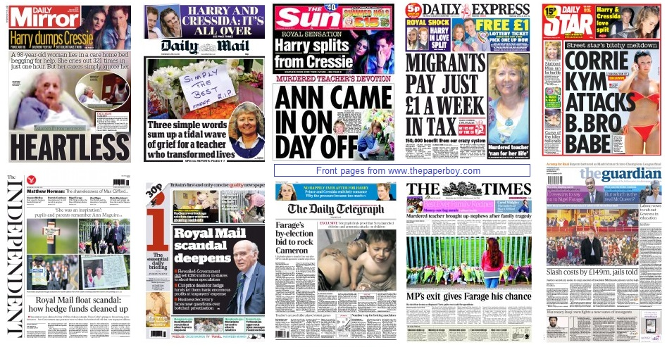 front pages 30-04-2014