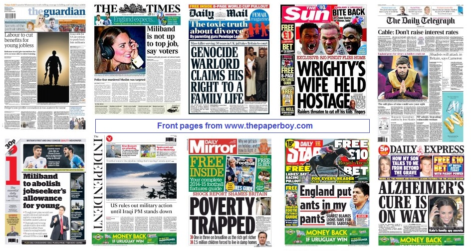 front pages 19-06-14